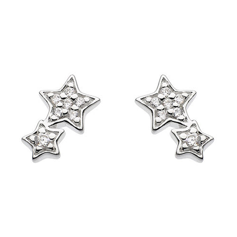 Sparkly Double Star Studs