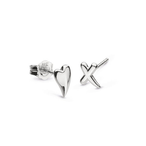 Kit Heath - Kit Heath Heart and Kiss Earrings - Designer Earrings - Silverado