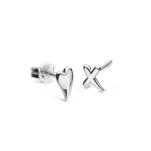 Kit Heath Heart and Kiss Earrings
