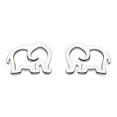 Sterling Silver - Silver Elephant Studs - Earrings - Silverado