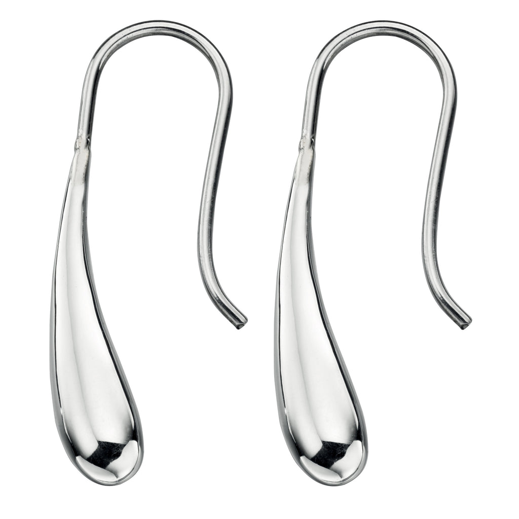 Sterling Silver - Silver Elongated Drops - Silver Earrings - Silverado