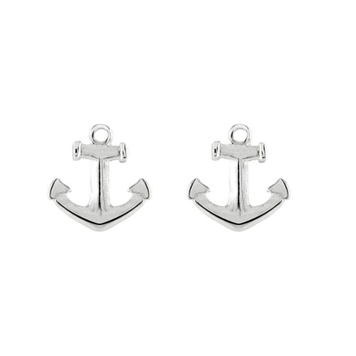 Sterling Silver - Anchor Studs - Silver Earrings - Silverado