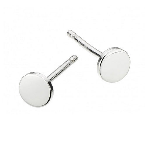 Silver Little Disc Studs