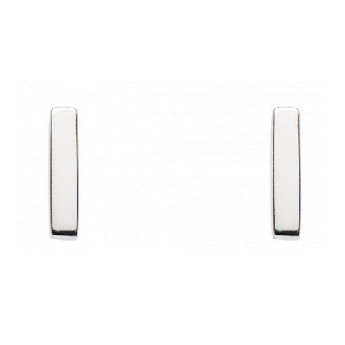 Sterling Silver - Silver Bar Studs - Silver Earrings - Silverado