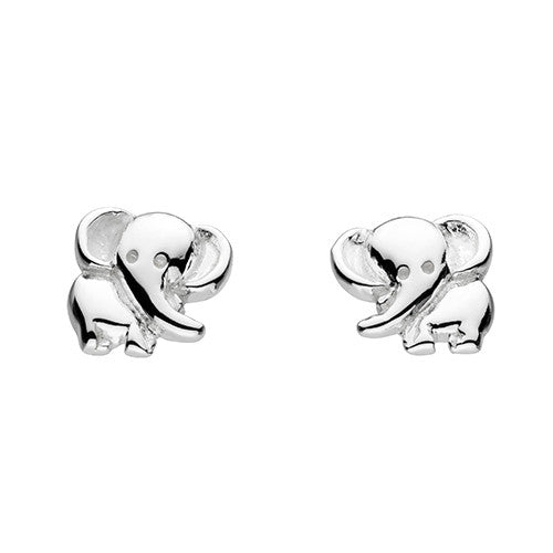 Sterling Silver - Elephant Stud Earrings - Silverado - Silver Earrings