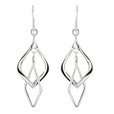 Elegant Double Drop Earrings