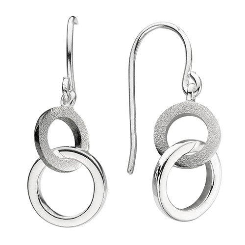 Silver Two Loop Earrings