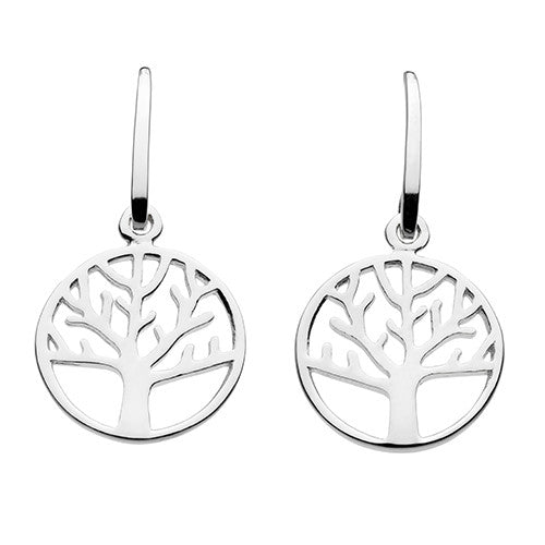 Sterling Silver - Tree of Life Drop Earrings - Silverado - Silver Earrings