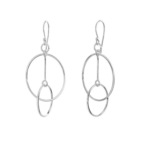 Sterling Silver - Fine Trapeze Earrings - Silver Earrings - Silverado