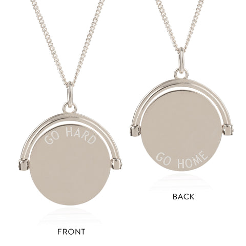 Rachel Jackson Go Hard / Go Home Silver Spinner Necklace