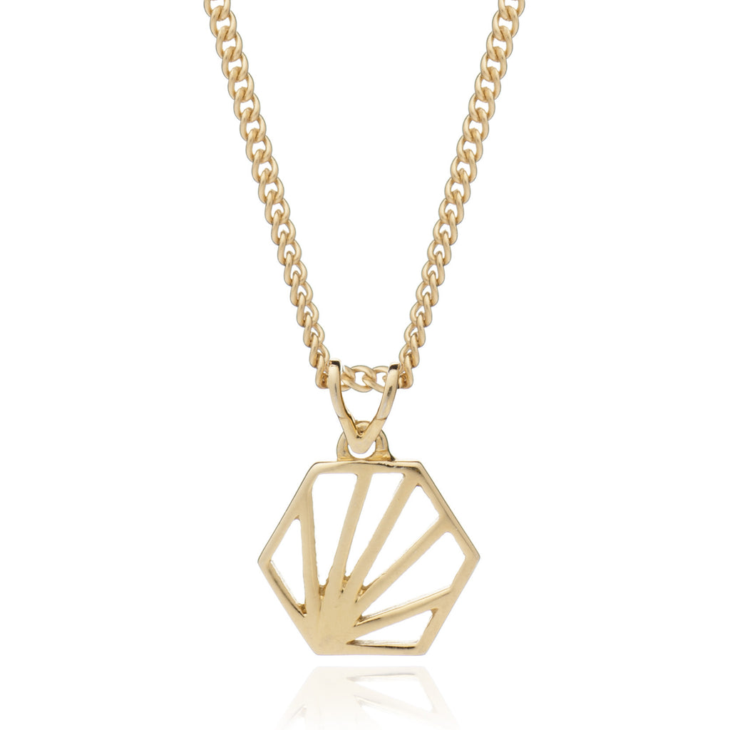 Rachel Jackson - Rachel Jackson Small Hexagon Necklace - Designer Necklaces - Silverado