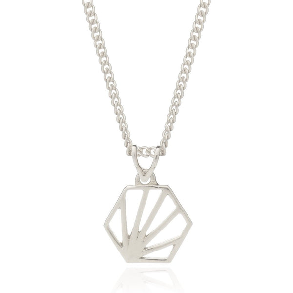 Rachel Jackson - Rachel Jackson Small Silver Hexagon Necklace - Designer Necklaces - Silverado
