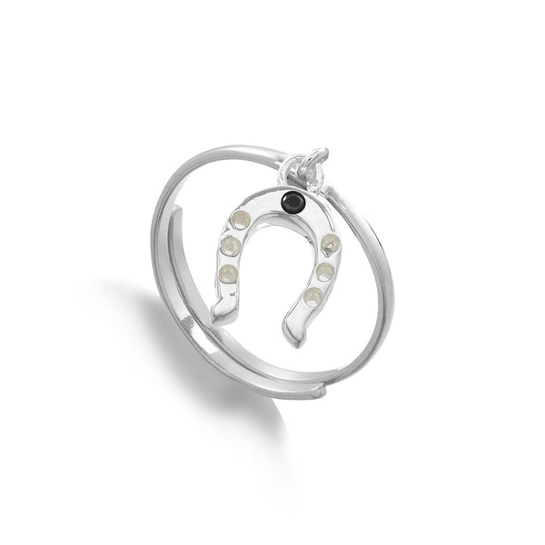 SVP Jewellery Silver Supersonic Horseshoe Charm Ring