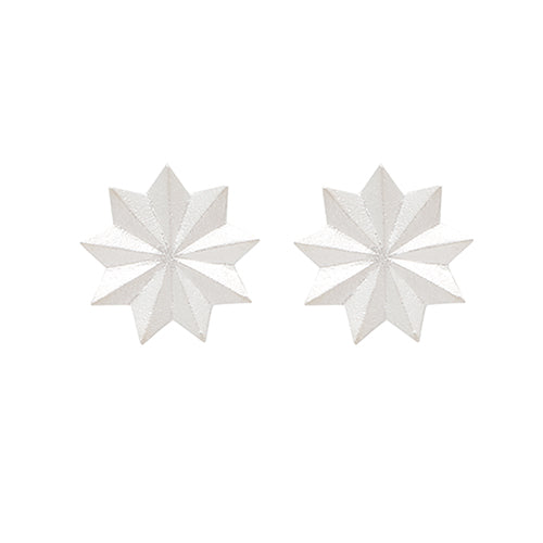 Louise Kragh - Louise Kragh Silver Bloom Studs - Designer Earrings - Silverado