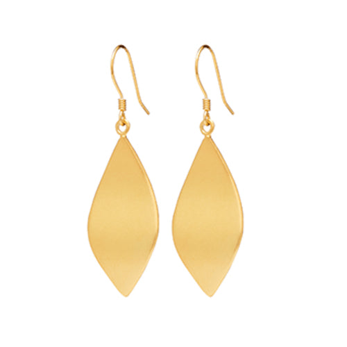 Louise Kragh - Louise Kragh Leaf Earrings - Designer Earrings - Silverado