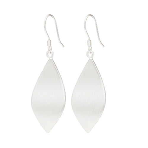 Louise Kragh - Louise Kragh Silver Leaf Earrings - Designer Earrings - Silverado