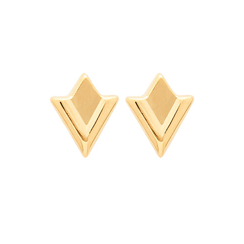 Louise Kragh - Louise Kragh Lily Stud Earrings - Designer Earrings - Silverado
