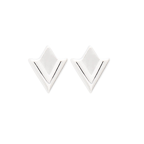 Louise Kragh - Louise Kragh Silver Lily Stud Earrings - Designer Earrings - Silverado