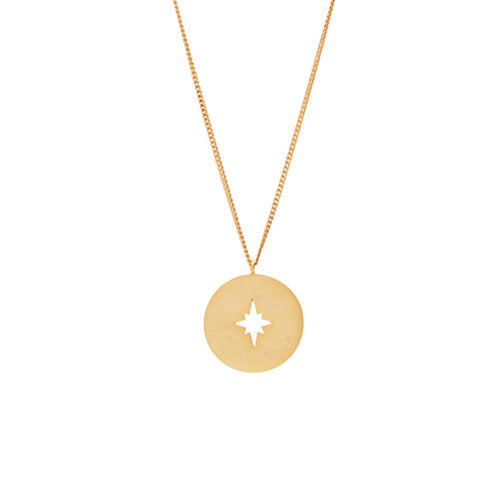 Louise Kragh - Louise Kragh Compass Necklace - Designer Necklaces - Silverado