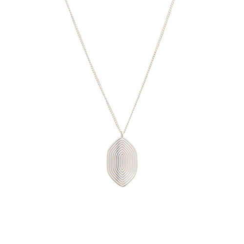 Louise Kragh - Louise Kragh Silver Maze Necklace - Designer Necklaces - Silverado