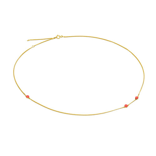 Louise Kragh - Louise Kragh Microdot Necklace - Designer Necklaces - Silverado