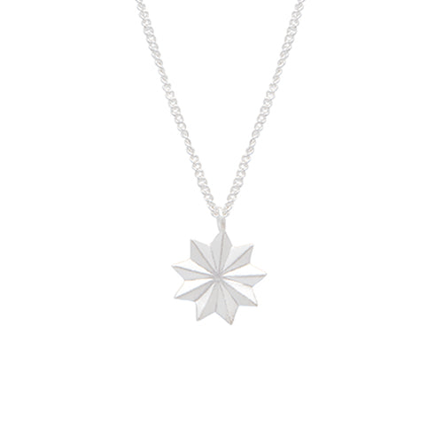 Louise Kragh - Louise Kragh Silver Bloom Necklace - Designer Necklaces - Silverado