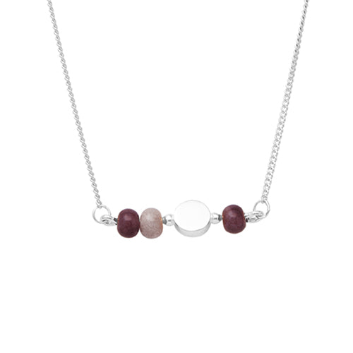 Louise Kragh - Louise Kragh Colour Necklace - Silver - Designer Necklaces - Silverado