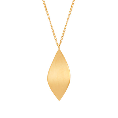 Louise Kragh - Louise Kragh Leaf Necklace - Designer Necklaces - Silverado