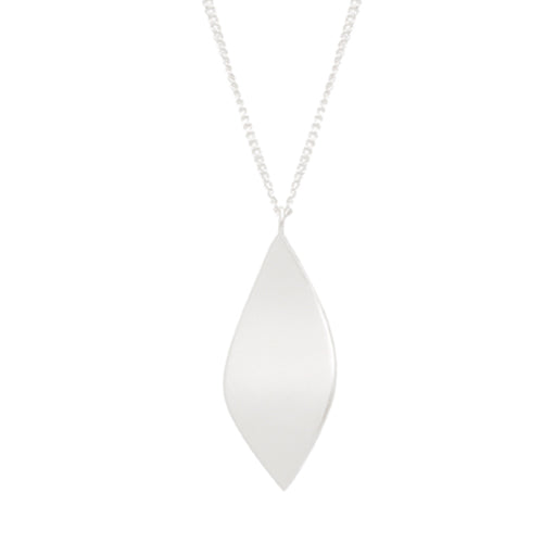 Louise Kragh - Louise Kragh Silver Leaf Necklace - Designer Necklaces - Silverado