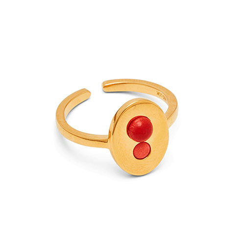 Louise Kragh - Louise Kragh Ellipse Ring - Designer Rings - Silverado