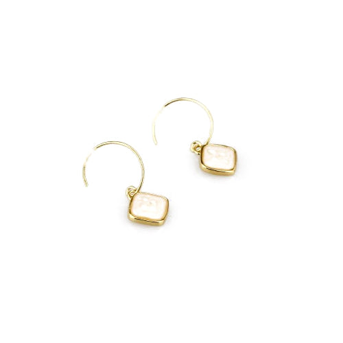 Medecine Douce - Medecine Douce Oxford Hooped Drop Earrings - Designer Earrings - Silverado