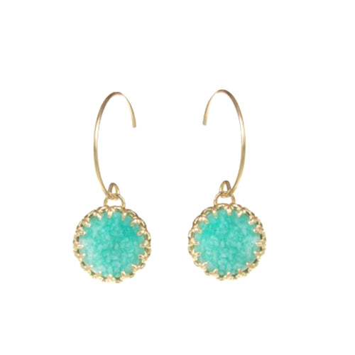 Medecine Douce - Medecine Douce Amazonite Earrings - Designer Earrings - Silverado