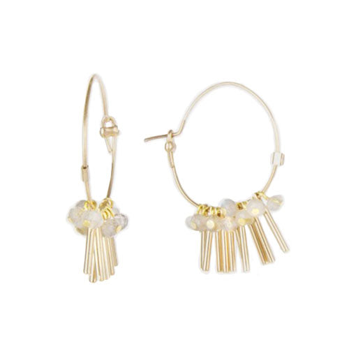 Medecine Douce - Médecine Douce Rain Hoops - Designer Earrings - Silverado