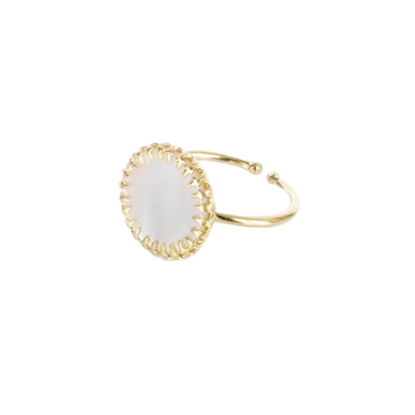Medecine Douce Mother of Pearl Phedre Ring