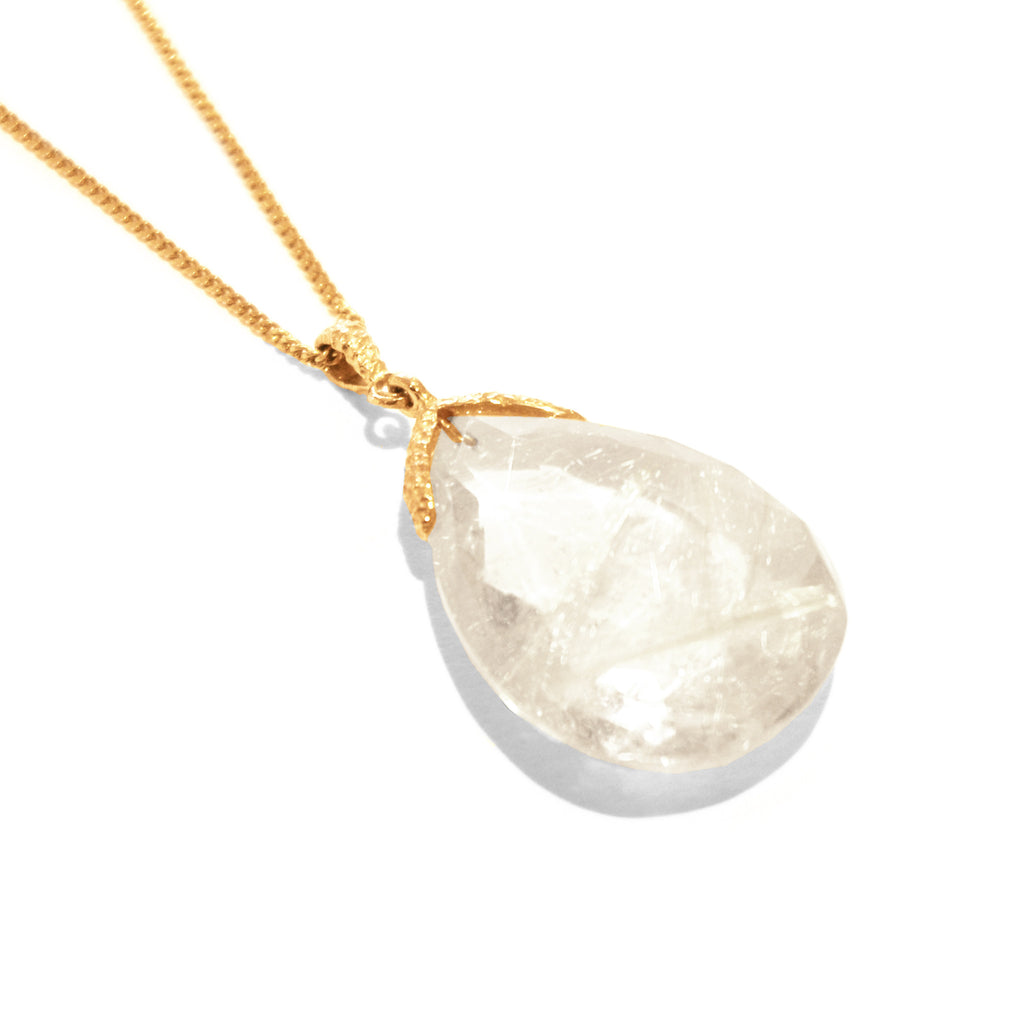 Mounir - Mounir Rutilated Quartz Necklace - Designer Necklaces - Silverado