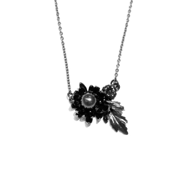 Alex Monroe Sale - Alex Monroe Ruthenium Plated Chrysanthemum Necklace - Designer Necklaces - Silverado