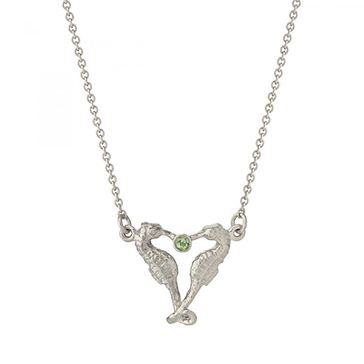 Alex Monroe - Alex Monroe Silver Seahorse Companion Necklace - Designer Necklaces - Silverado