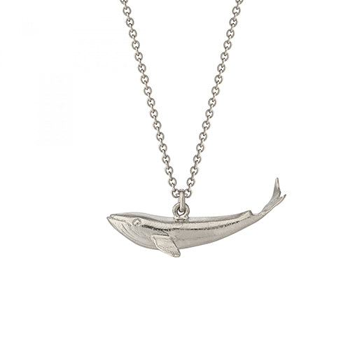 Alex Monroe - Alex Monroe Silver Baby Blue Whale Necklace - Designer Necklaces - Silverado