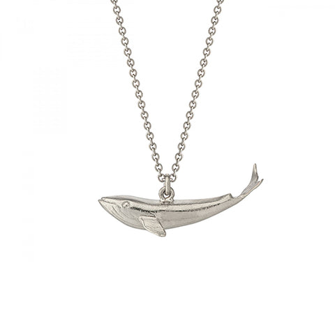 Alex Monroe Silver Baby Blue Whale Necklace