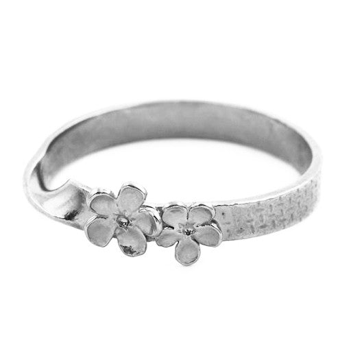 Alex Monroe Silver Forget-Me-Knot Ribbon Ring