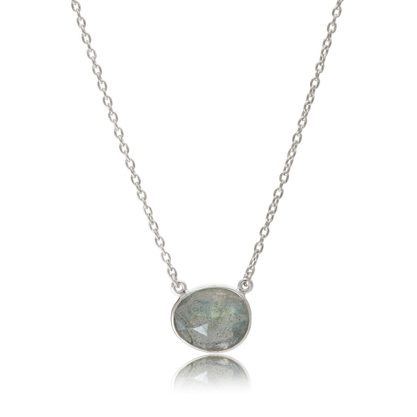 Rodgers & Rodgers - Rodgers and Rodgers Silver and Labradorite Riviera Necklace - Designer Necklaces - Silverado