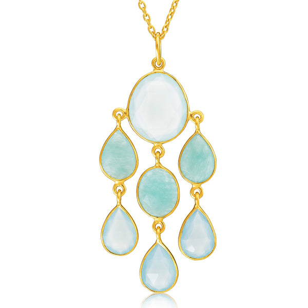 Rodgers & Rodgers - Rodgers and Rodgers Cascading Gemstone Necklace - Designer Necklaces - Silverado