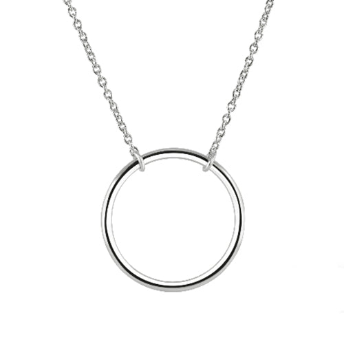 Silver Large Circle Necklace