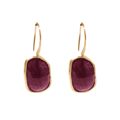 Otis Jaxon Embers Ruby Drop Earrings