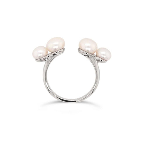 Olivia and Pearl Believer Pearl Ring - Silver
