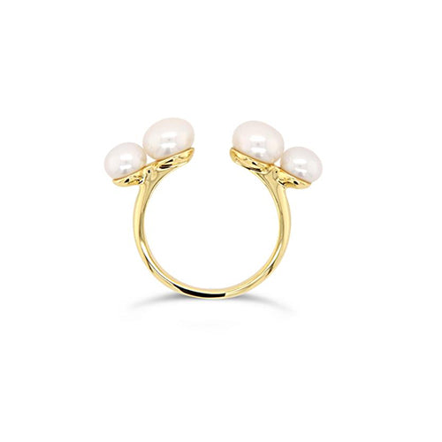 Olivia and Pearl Believer Pearl Ring - Gold Vermeil