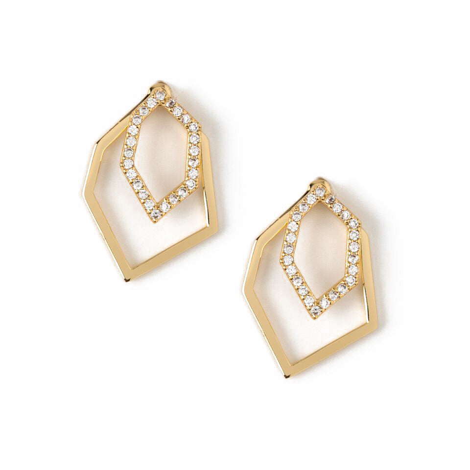 Orelia Sparkly Geo Earrings