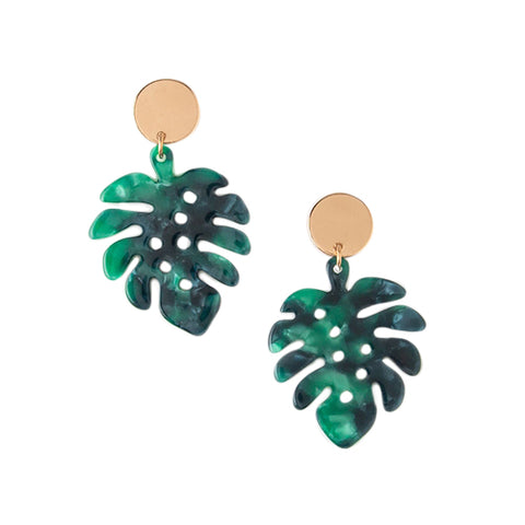 Orelia Palm Leaf and Coin Earrings