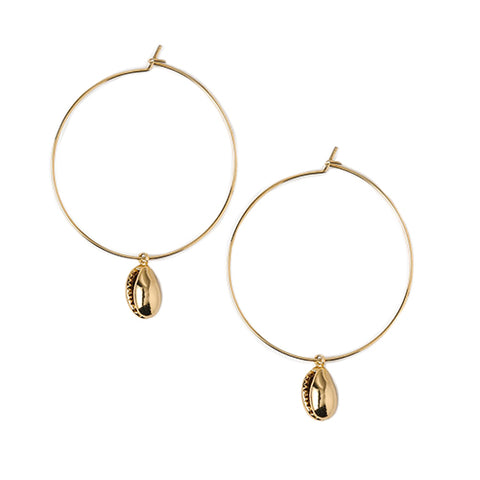 Orelia Shell Hoops