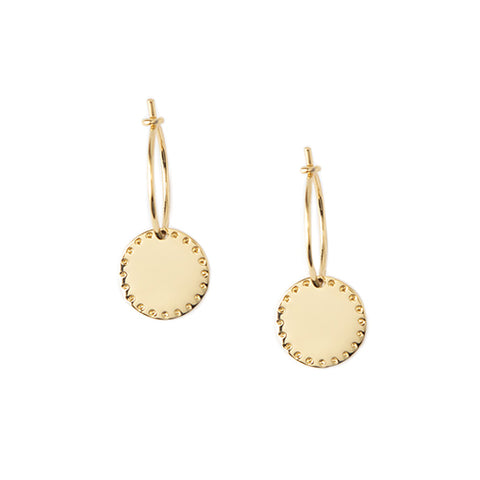 Orelia LUXE Coin Hoop Earrings